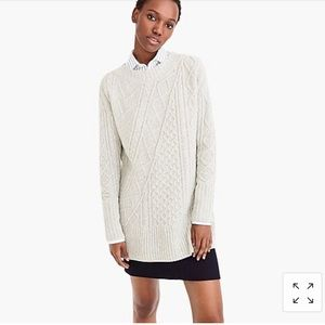 New | J.Crew Oversized Patchwork Cable-knit Tunic